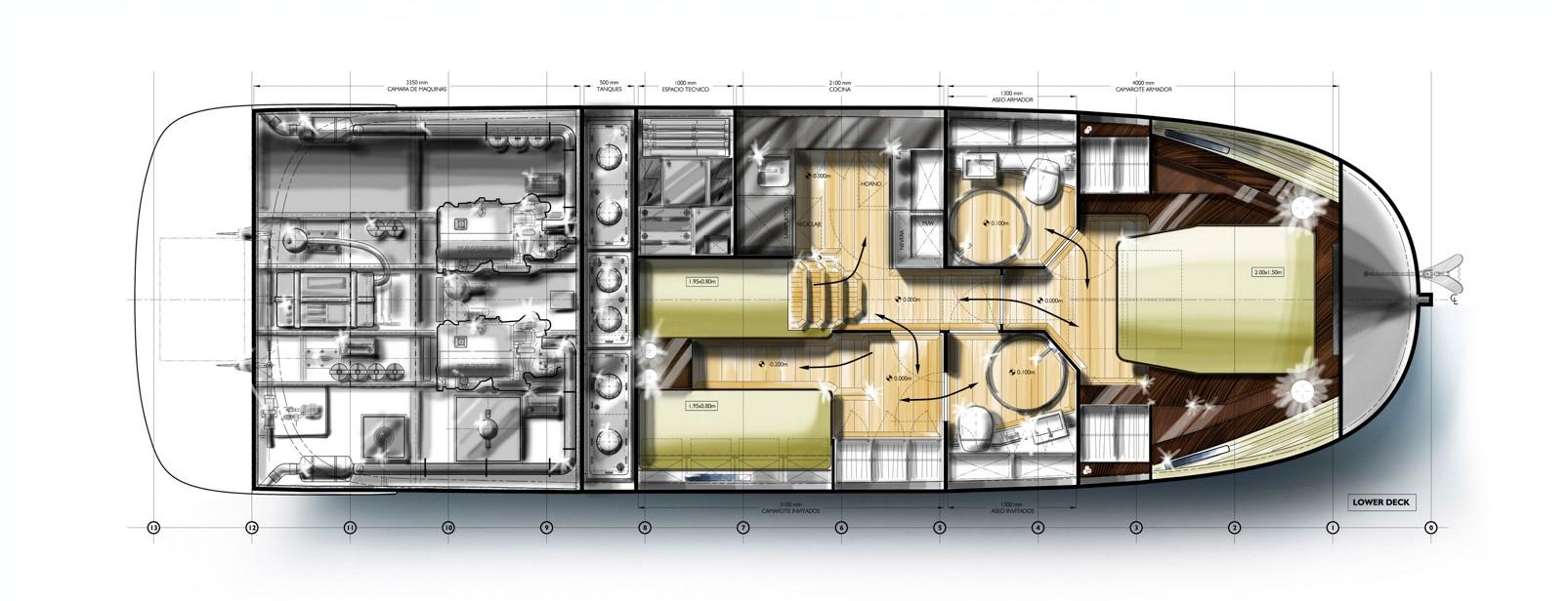 minorca islander 42 hardtop lower layout