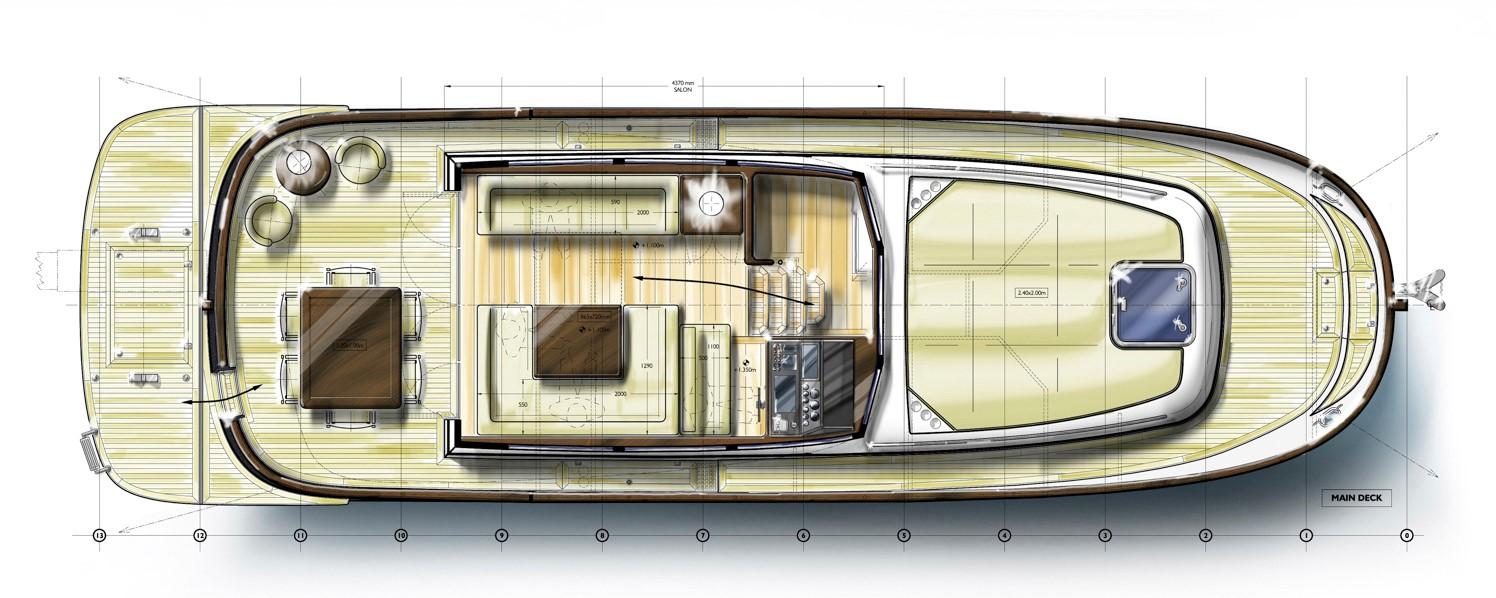 Minorca islander 42 hardtop main deck layout
