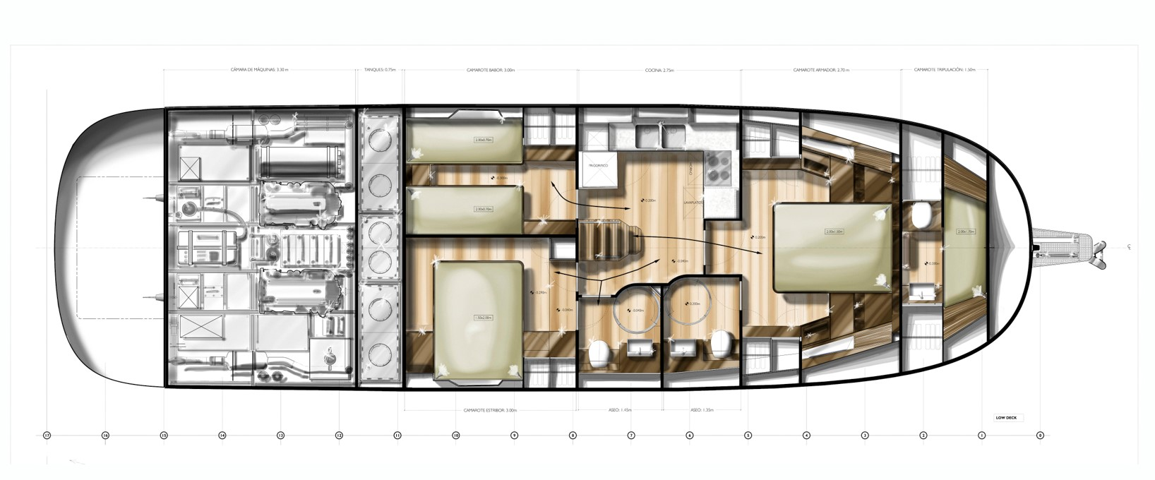 minorca islander 54 hardtop lower deck layout