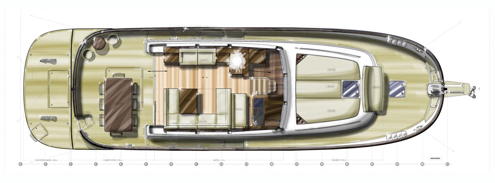 minorca islander 54 hardtop main deck layout